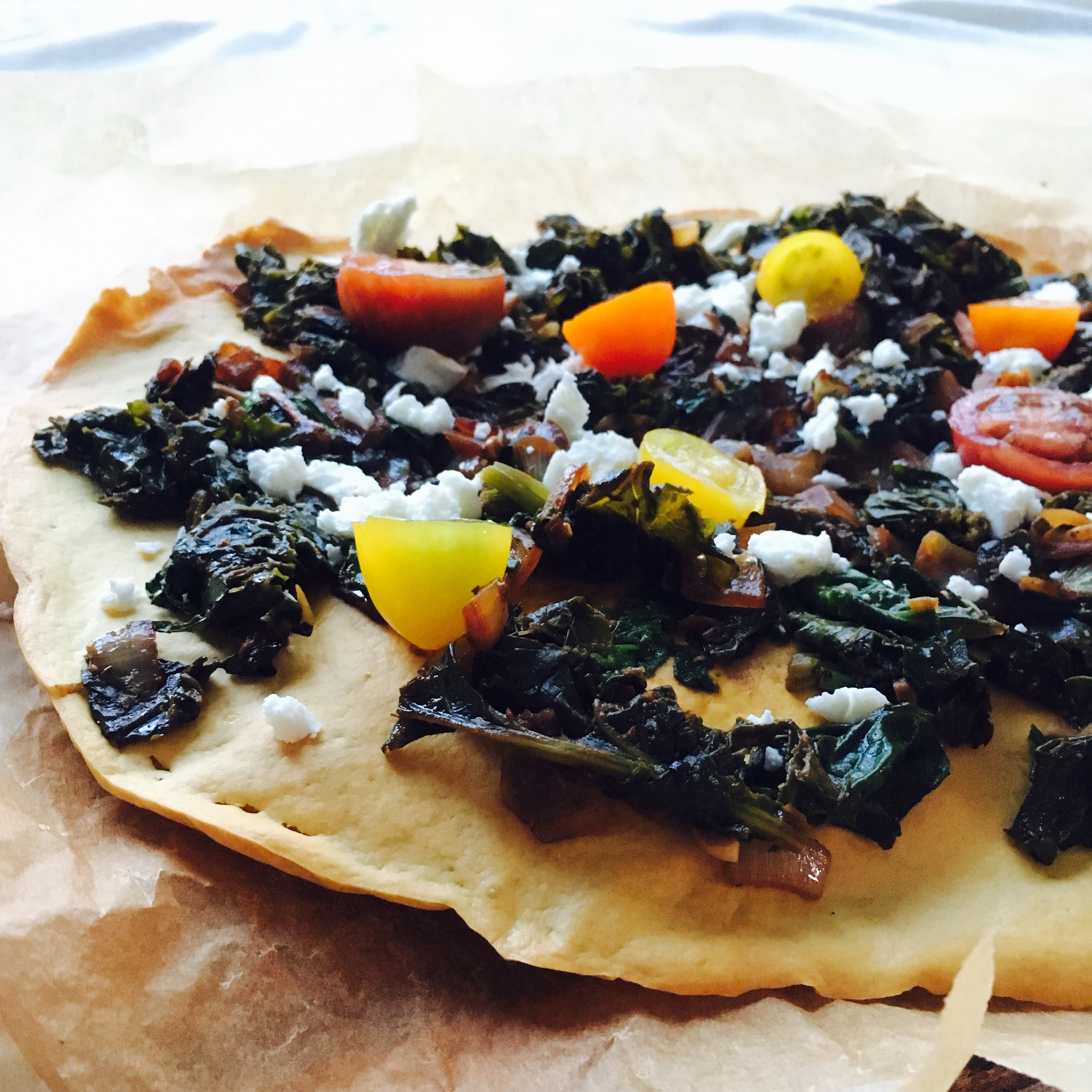 Chickpea greens pizza 2